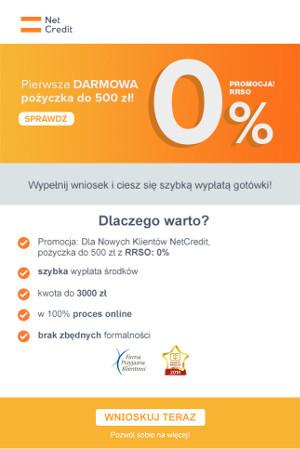 Netcredit - oferta 500 zł za darmo