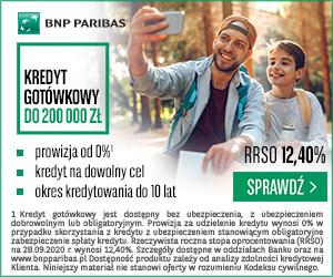 BNP Paribas - kredyt gotówkowy banner
