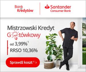Santander Banner kredyt gotówkowy