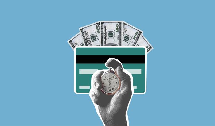 Pieniądze - konto bankowe - karta i czas