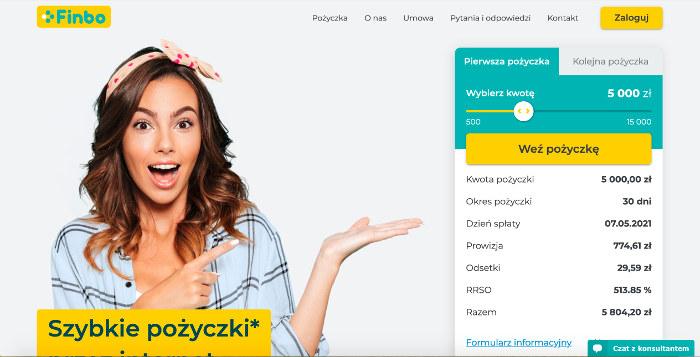 finbopl zrzut witryny pożyczkodawcy