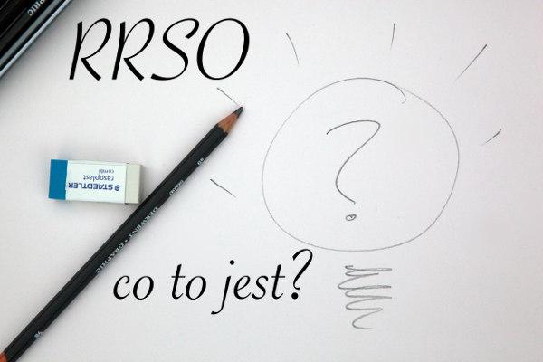 RRSO - co to jest? Ołówek i znak zapytania